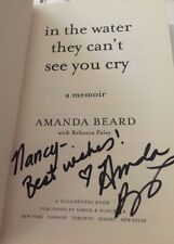 Amanda Beard SIGNED Autographed In The Water They Can't See You Cry HARDCOVER