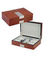 New 31MADISON Elegant Rosewood Watch Box - 8 Slots