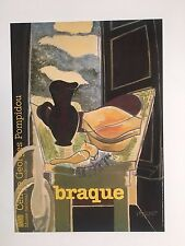 GEORGES BRAQUE,LA TABLE DE TOILETTE DEVANT LA FENETRE,1942 RARE 1982 ART PRINT