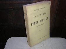 1911.chanson du poète errant.Sarrazin.bon ex.non coupé