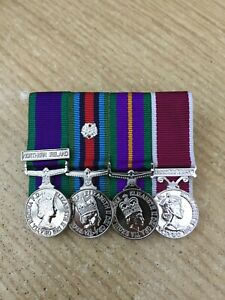 4 MINIATURE MEDALS COURT MOUNTED READY FOR WEAR