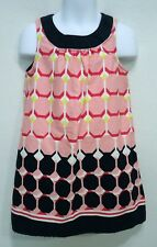 Gymboree Girls 5 Dress Pink Navy Blue Geometric Sleeveless Summer
