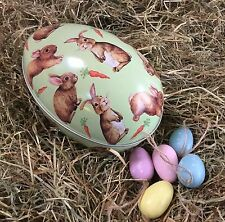 Easter Bunny Easter Egg Metal Tin Rabbit Gift Box Gisela Graham Vintage
