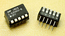 2pcs- AMP / 5 Position / 10 Pin / Piano Style / SPST / DIP Switch / 25mA 24VDC