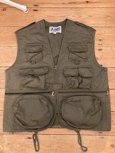 """Unisex Multi Pocket Utility Vest, size S, Khaki """"Outdoor Vest"""""""