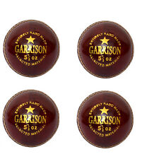 4 x 156gm Garrison Leather Cricket Balls Hand Stitched Hard Professional Ball