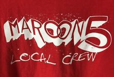 Maroon 5 Tour Concert Local Crew Tee T Shirt Men Xl Red Backstage