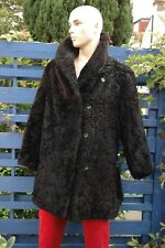 vintage shearling  sheep fur coat unisex made in USSR very good condition L/XL