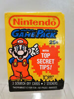Topps Nintendo Game Pack Trading Cards 1989 sealed Pack