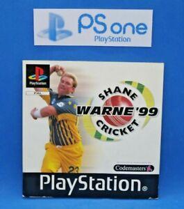Shane Warne Cricket '99 (PS1) PAL Manual - Via AusPost FREE |2