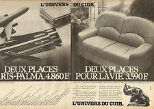 Publicité 1983  (Double page)  L'UNIVERS DU CUIR  canapé fauteuil