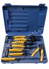 11 Pc Snap Ring Pliers Set Mechanics Circlips Auto Tool Internal External Pliers