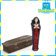 Queen Vampire and Coffin Statue / Figurine Poly Resin 20 CM LENGTH DISPLAY