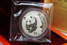 CHINA - 1 oz Silberpanda 2001 in der Folie inkl. Box - TOP