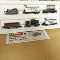 Arnold 0154 6-teilige Güterzug-Garnitur mit Diesellok Köf 2 der DRG Epoche 2