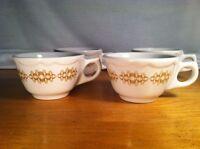 4 (four) Buffalo China Atomic Gold Restaurant Coffee Cups 6 Ounce Capacity