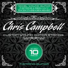 3 SETS CHRIS CAMPBELL CUSTOM ELECTRIC GUITAR STRINGS #4803 REG HVY 7-STRING SET