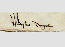 Vlad Dracula The Impaler Autograph Reprint On 300 Year Old Paper Vampire