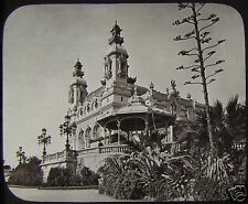 Glass Magic Lantern Slide MONTE CARLO CASINO FROM THE TERRACE C1890 FRANCE