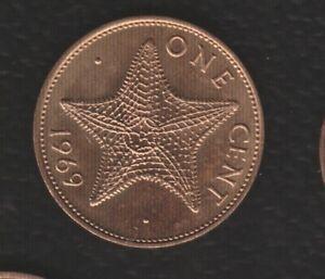 BAHAMA 1 CENTS 1969