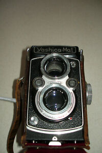 Yashica-Mat Copal-MXV Twin Lens Camera 120 Film With Original Leather Case