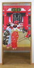 Noren Japanese door curtain Geisha girl Asakusa Kaminari Mon Senso-ji