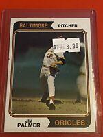VINTAGE 1974 Topps Baseball Card Set #40 HOF BALTIMORE ORIOLES - Jim Palmer