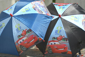 Pixar Cars - Junior Umbrella - Black or Blue - Brand New