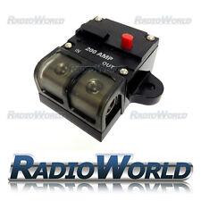 HQ Impermeable Coche/Marine 200 Amp fusible interruptor de circuito 1/0 AWG/4 AWG entradas