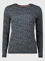 Brand New Tu Women's Floral Print Long Sleeve Luxe Top Size 18