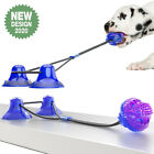 Pet Dog Puppy Molar Pet Bite Toys Tug Rope Ball Chew Tooth Cleaning Suction Cup