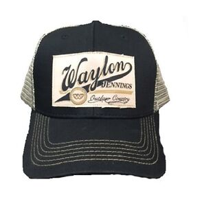 Waylon Jennings Good Hearted Woman Patch Outlaw Country Music Rock Trucker Hat