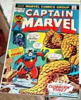 1973 CAPTAIN MARVEL 26 VF 1st THANOS Cover THING App Comic GLOSS Jim Starlin Key