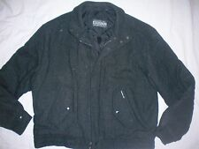 *MEMBERS ONLY* Vintage Charcoal Gray Wool Insulated Bomber JACKET COAT 44  26593