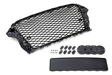 Audi A3 S3 8V Euro RS3 Front Sport Hex Mesh Honeycomb Grill S Line Black 2015+