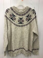 NORTHERN REFLECTIONS Sweater Large Mens Wool Cotton Blend Nordic Fair Isle