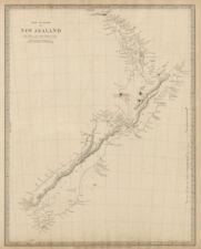 Pre-European Maori NEW ZEALAND. Tavai Poenammoo Eaheinomauwe. SDUK 1844 map