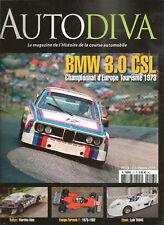 AUTODIVA 23 BMW 3.0 CSL ENSIGN 1973 82 LOLA T594C 83 CHAPARRAL LOTUS 12 16 18 25