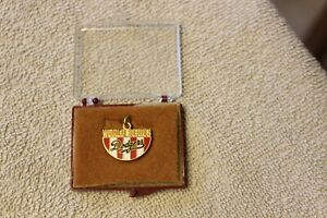 1988 Los Angeles Dodgers baseball World Series press charm in case
