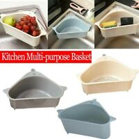 Triangular Sink Drain Shelf Drain Rack Multifunctional Storage Holder Sucker UK