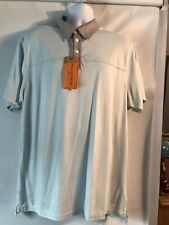 Mens Large Field & Stream Baby Blue Polo