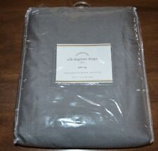 Pottery Barn Silk Dupioni Drape Pole Top Flagstone Gray Curtain 104x108 Dbl Wide