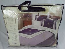 Newcastle Collection Luxury Bed Set 7 Piece King Comforter Set,Violet/Plum - NEW
