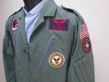 Genuine Pilot Coverall Fancy Dress Maverick TOP GUN FLIGHT SUIT AVIATOR COSTUME