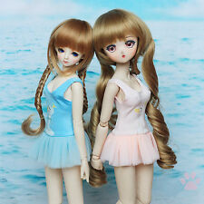 New Pink/Blue Siamesed Lovely Bubble Skirt/Swimwear For 1/4 MSD MDD BJD Clothes