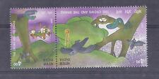 INDIA 2001 Panchatantra -The Crows & the Snake -Setenant MNH