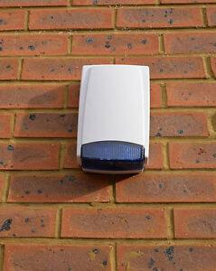 Dummy Alarm Box Blue Lens Long Lasting Dual Flashing Strobe 2 LED Weatherproof