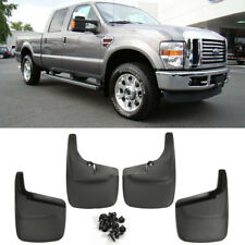 Front Rear Splash Mud Guards Flaps For 99-10 F250 F350 Super Duty w/o Wheel Lip