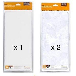 3 Cricut Cuttlebug A & B Plates Bundle Lot Spacer 6x13 Die Cutting Cut Plate Mat