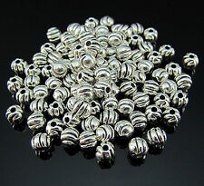 FREE 100PCS Crafts Design Tibetan silver pumpkin Pendant spacer Loose beads 4MM